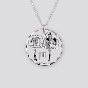 5964_real_estate_cartoon Necklace Circle Charm